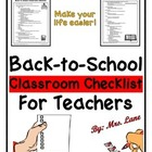 First-Day Classroom Checklist for Teachers!