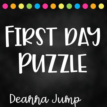 First Day Handprint Puzzle Freebie