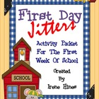 First Day Jitters ~ Book Activity And Printables Unit For