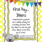 First Day Jitters -  Reading and Writing Activities