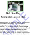 First Day Lesson Plan