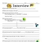 First Day back to School Interview Activity
