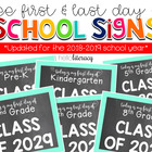 &quot;First Day of {Any} Grade&quot; School Photo Signs [for student