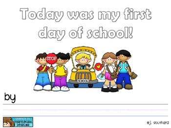 First Day of School Booklet {Canadian Version}