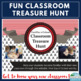 First Day of School Classroom Treasure Hunt