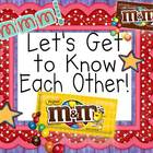 First Day of School M&amp;M Activity!