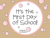 First Day of School SmartBoard Lesson for Primary Grades