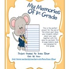 First Grade 16 Page End Of The Year Memory Book