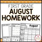 First Grade AUGUST Homework: Editable
