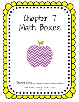 http://www.teacherspayteachers.com/Product/First-Grade-Advanced-Math-Boxes-Everyday-Math-Chapter-7-1183438