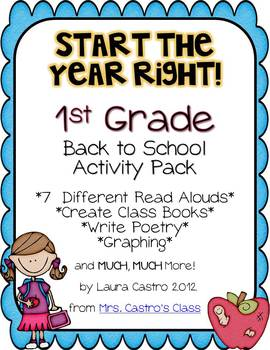 First Grade Back to School Activity Pack - Start the year right!