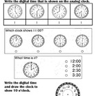 First Grade CCGPS Math Quiz on Time