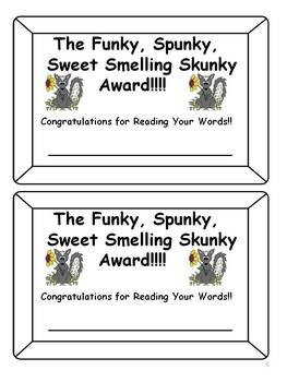 First Grade CVC Word Games: Don't Get Skunked!