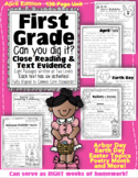 First Grade Can You Dig It?  April Close Reading & Text Ev