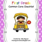 First Grade Common Core Checklist for Teachers