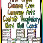First Grade Common Core Language Arts Vocabulary Word Wall