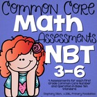 First Grade Common Core Math Assessments-  Numbers &amp; Opera