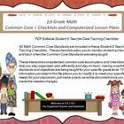 First Grade Common Core Math Checklists and Drop Down Less