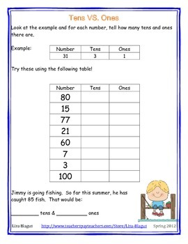 First Grade Common Core Numbers in Base Ten Operations Bundle