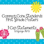 First Grade Common Core Posters-Language Arts