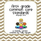 First Grade Common Core Standards User-Friendly