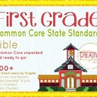 First Grade Common Core State Standard Bible -  ELA and Ma