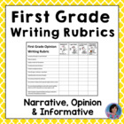 First Grade Common Core Writing Rubrics