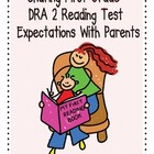 First Grade DRA Reading Expectations