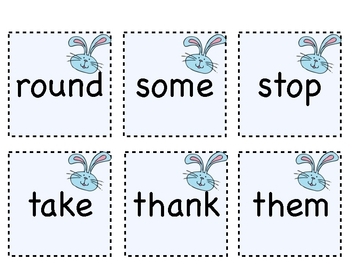 First Grade Dolch Sight Word Cards