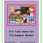First Grade  ELA Common Core Standards Checklist