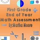 Math Assessment First Grade End of Year