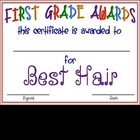 First Grade &quot;FUN&quot; Awards