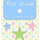 First Grade First Quarter Common Core Preview