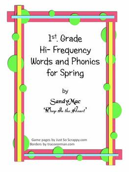 First Grade Hi-Frequency Words and Phonics for Spring