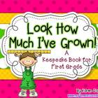 First Grade Keepsake Book with Samples from Beginning and