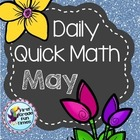 First Grade Math - May Quick Math for Daily Practice - Mat