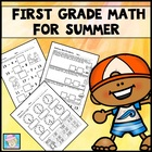 First Grade Math Common Core Cut-and-Glue Workbook:  Summer Theme
