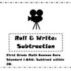 First Grade Math Common Core Standard 1.OA6 Game: Roll & W
