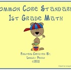 First Grade Math Common Core Standards Posters
