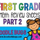 First Grade Math Review Sheets Part 2