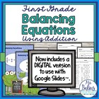 First Grade Math Spring {Frog} Balancing Equations-Additio