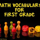 First Grade Math Vocabulary Posters