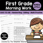 First Grade Morning Work - Activities for Aug - May School