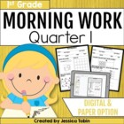 Morning Work for First Grade Common Core Set #1 {Quarter 1