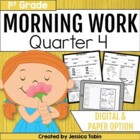 Morning Work for First Grade Common Core Set #4 {Quarter 4