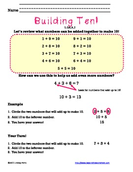 First Grade Operations and Algebraic Thinking