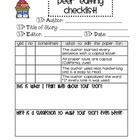 First Grade Peer Editing Checklist: Conventions