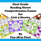 First Grade Reading Street Comprehension Games for Unit 3
