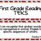 First Grade Reading TEKS- Red Zebra