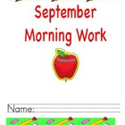First Grade September Morning Work Freebie